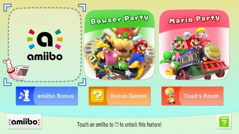 Menu inicial de Mario Party 10.