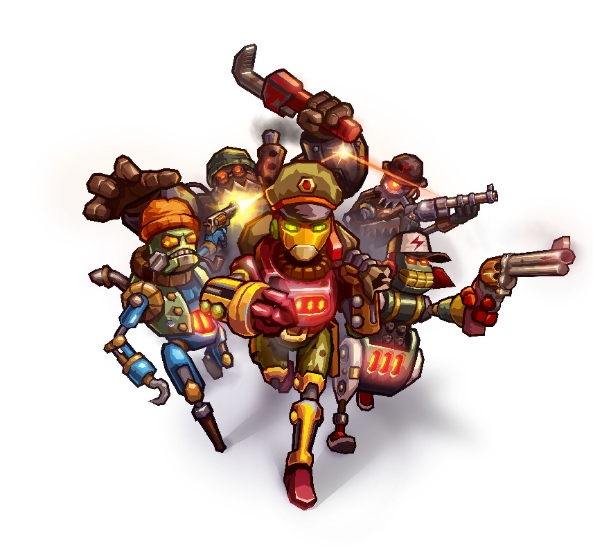Arte de SteamWorld Heist